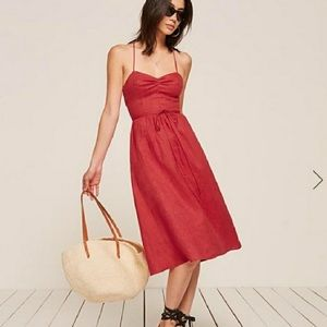 Reformation Pepper Linen Midi Dress